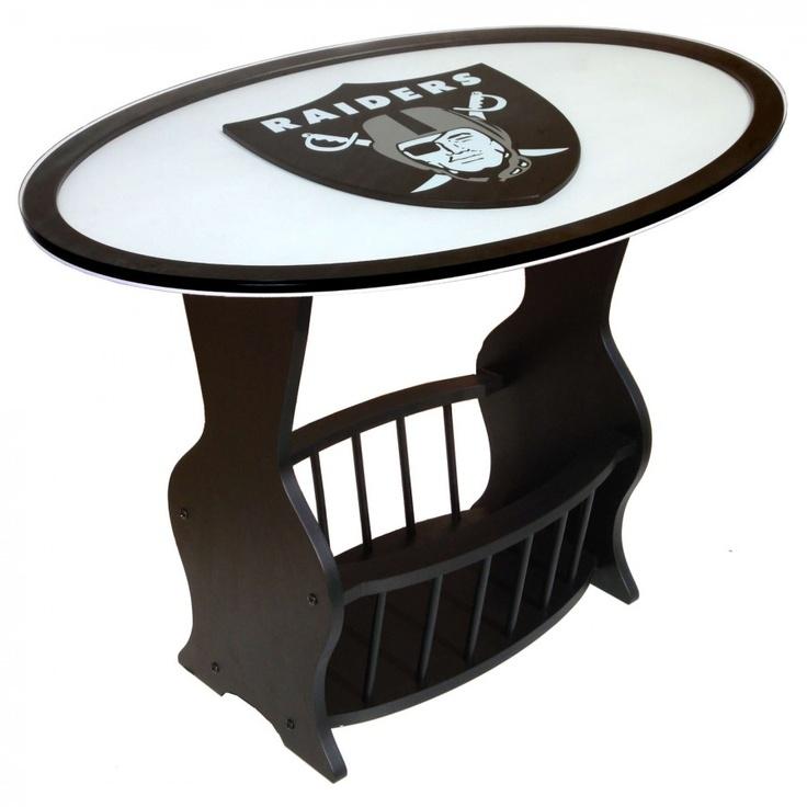 Fan Creations NFL Logo End Table NFL Team: Oakland Raiders   N0537 OAK