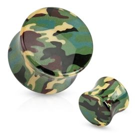 Plug do ucha - maskáče PTP00192 nejen pro vyznavače army stylu. Tenhle se fakt povedl! http://www.piercingate.cz/plug-do-ucha-maskace-ptp00192