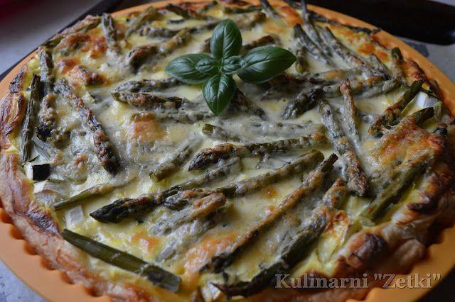 """Kulinarni, czyli uczniowie """"Zetki"""" pichcą!: Tarta z zielonymi szparagami"""