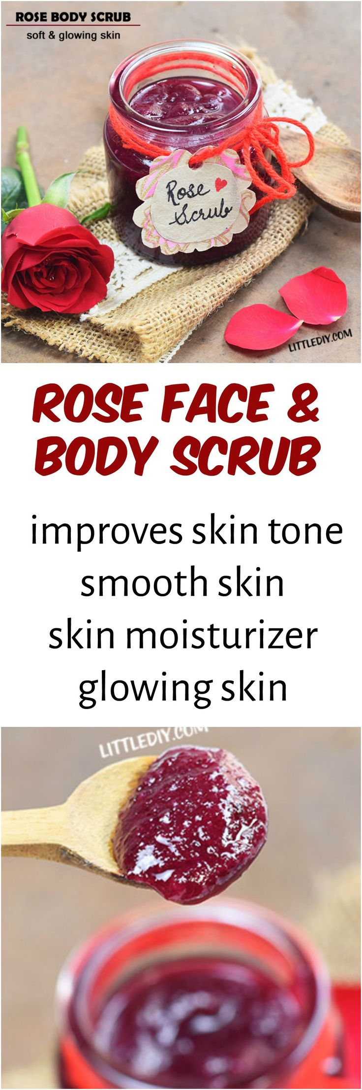 Rose face and body scrub