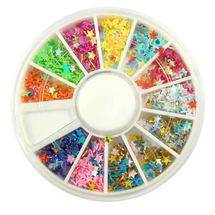 1 Set Significant Popular 3D Acrylic Nails Art Wheels DIY Tips Manicure Primer Salon Supplies Color Style Star Flake >>> Visit the image link more details.