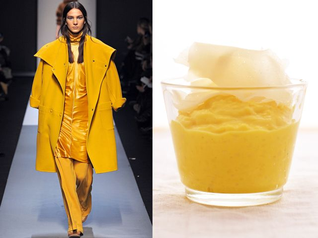 Max Mara fw 2013-14 / Saffron cream of rice with cheese flakes