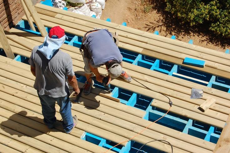 Construyendo la terraza