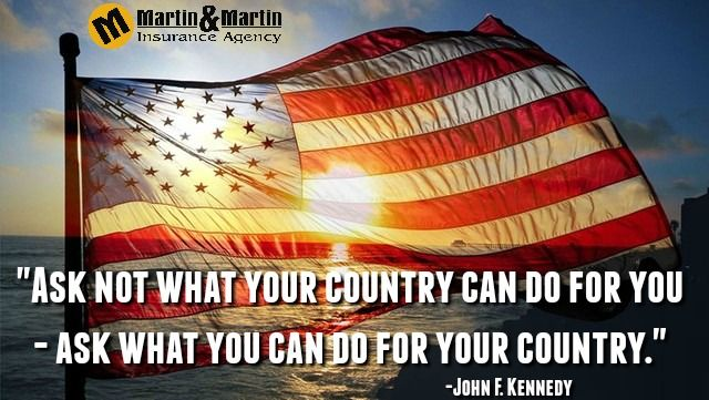 Proud to represent the red, white & blue. #America #LandOfTheFree #JohnFKennedy #JFK #Quotes