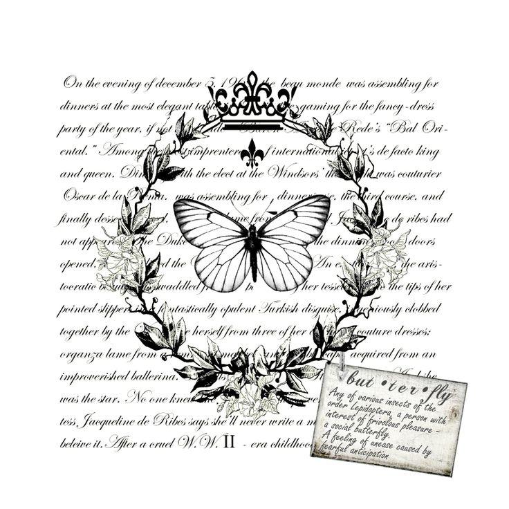 butterfly & script transfer