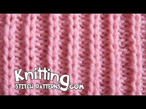 Slip Stitch Rib P2 K1 | Knitting Stitch Patterns