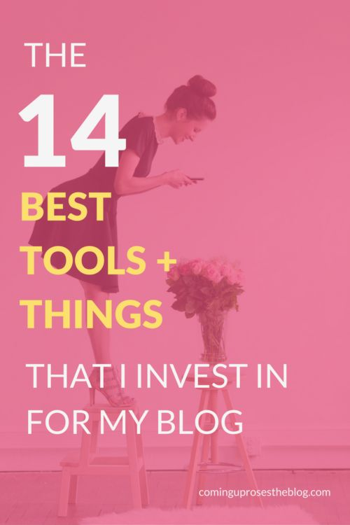Coming Up Roses shared the 14 Best Blogging Tools that she Invests in for her Blog http://cominguprosestheblog.com/best-blogging-tools/