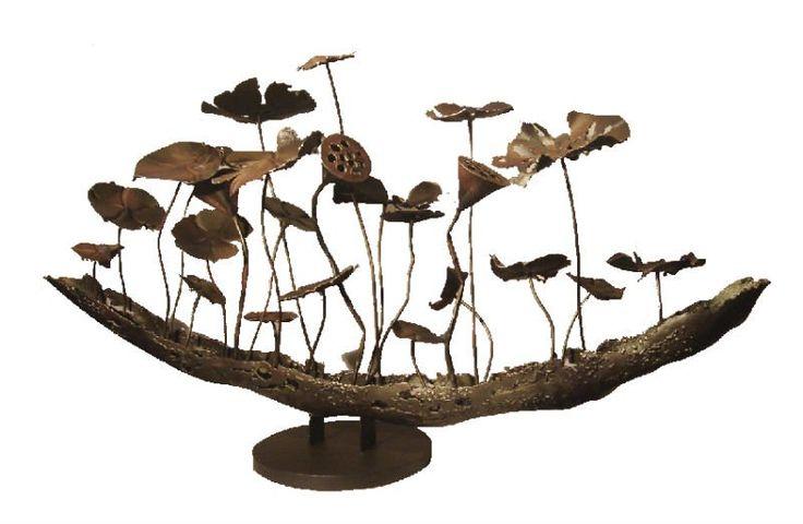 metal-sculpture-lotus-pond-hotel-decoration-home-decor-ornament____.jpg (800×522)