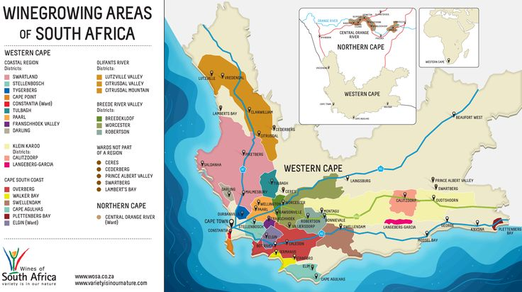 Winegrowing Areas of South Africa #wine #SouthAfrica http://www.wosa.co.za/