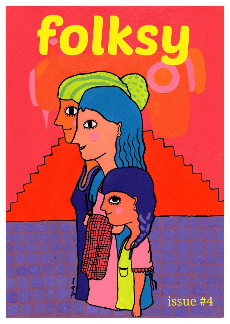 folksy 4th edition, June-July 2015. Cover illustration by Ayu Desianti
