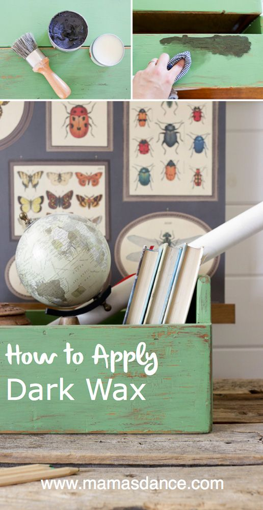 How to Apply Antiquing Wax to Age Painted Pieces - This Mamas Dance