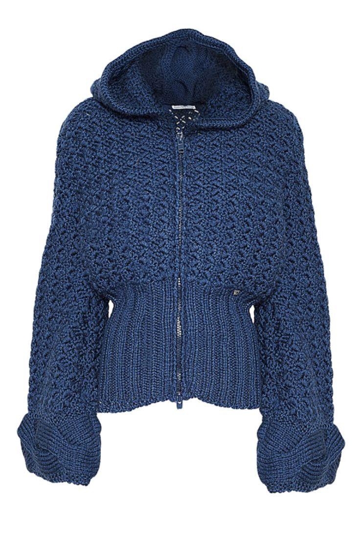 Cod 140  hand made Jacket with hood - royal bleu