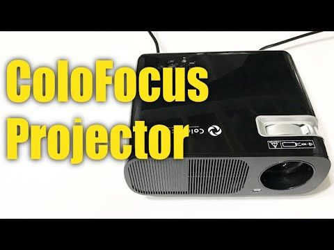 ColoFocus 1080P HD 2600 Lumens LED Movie Video TV Projector Review https://youtu.be/UWWW9q8mpoo