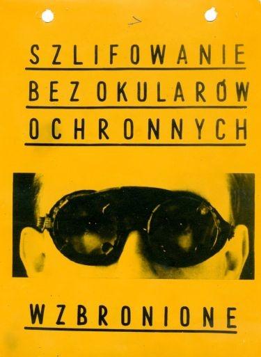 Jerzy Lewczyński  BHP  1960.    Occupational Safety and Health. The history of an imagination - exhibition at Galeria Asymetria, Warsaw