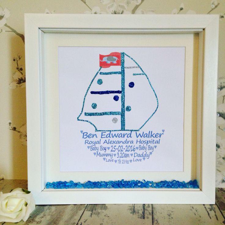Beautiful newborn personalised frame.
