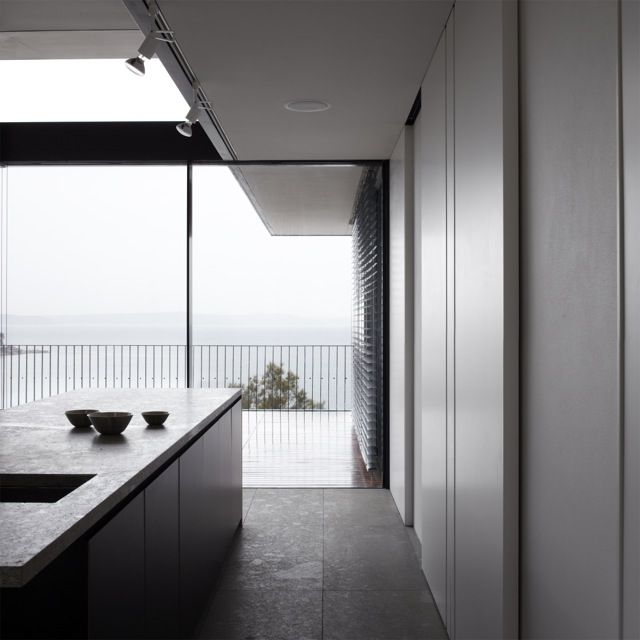 Tobias Partners - Whale Beach Kitchen Island with a view