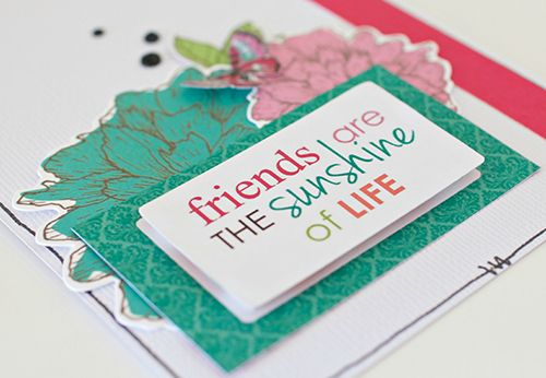 """Friends-are-the-sunshine-of-life"" Card by Alicia McNamara Kaisercraft Design Team using 'Fly Free' Collection - Wendy Sehultz ~ Cards 1."