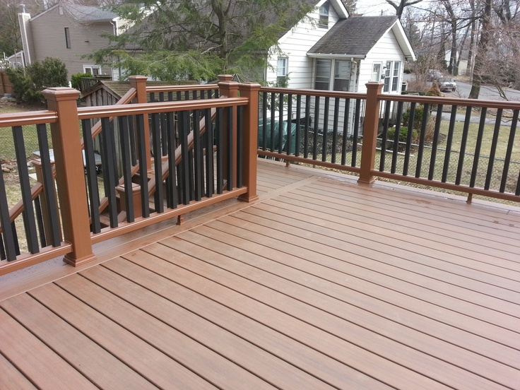 11 best titan pro rail images on pinterest deck for Capped composite decking