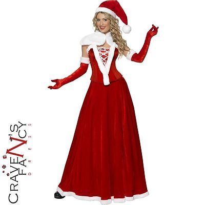 Deluxe ladies mrs claus costume santa #father #christmas fancy #dress outfit miss,  View more on the LINK: http://www.zeppy.io/product/gb/2/181943016707/