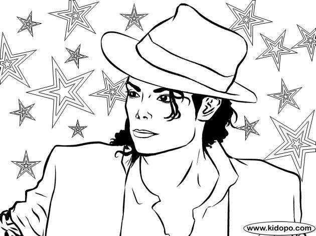 Michael Jackson Coloring Page