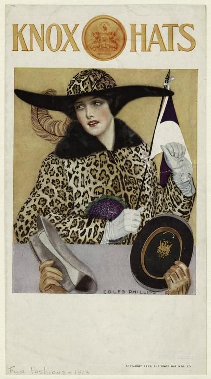 Coles Phillips - illustration for Knox Hats ad (1913)