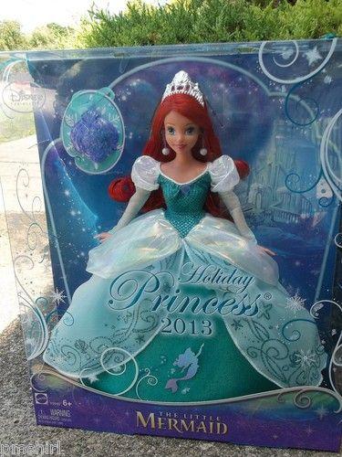 Disney 2013 Holiday Princess Ariel The Little Mermaid Doll NIB | eBay