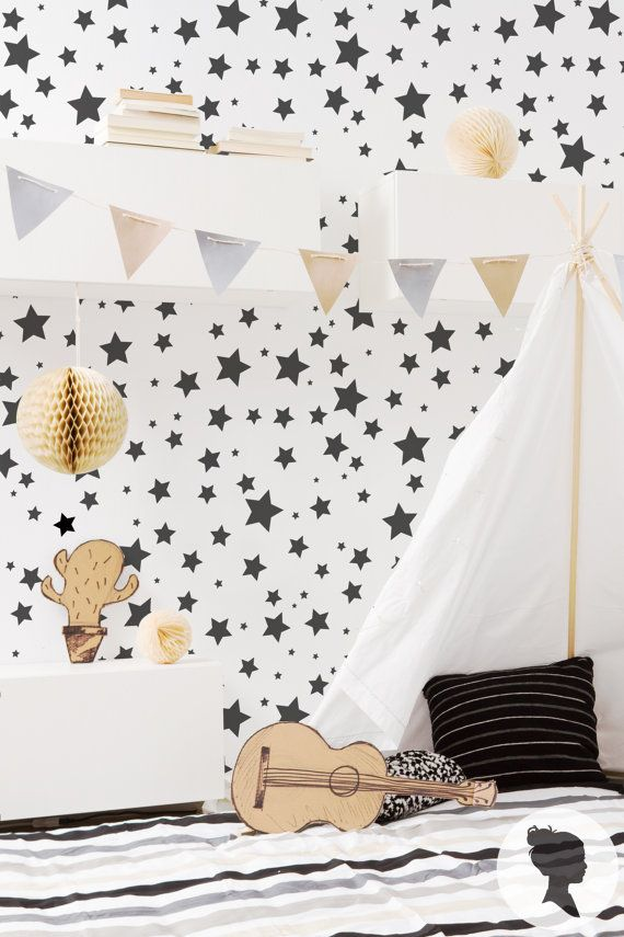 Star Pattern Peel and Stick Removable Wallpaper D217 by Livettes