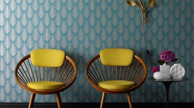 Les 25 meilleures id es concernant papier peint bleu for Moquette bleu canard