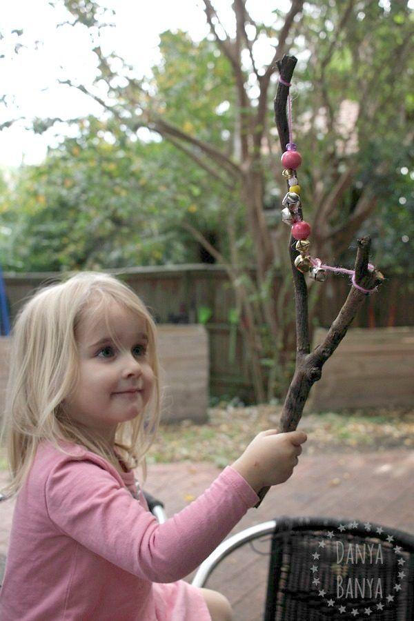 DIY Jingle Stick music craft for kids