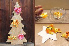 Mit Kindern Weihnachtsgeschenke basteln: Eine süße Idee für die Weihnachtswerkstatt: Bunter Stern