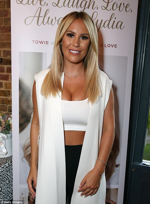Busty babe: Lydia Bright's book launch on Tuesday night naturally brought the great and go...