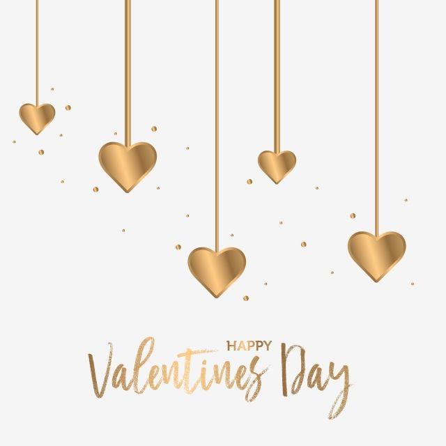 Dia De San Valentin Corazon De Oro Colgando Dia De San Valentin Febrero San Valentin Png Y Vector Para Descargar Gratis Pngtree En 2020 Dia De San Valentin Corazon De Oro Corazones