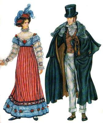 Информация про костюмы 19 века