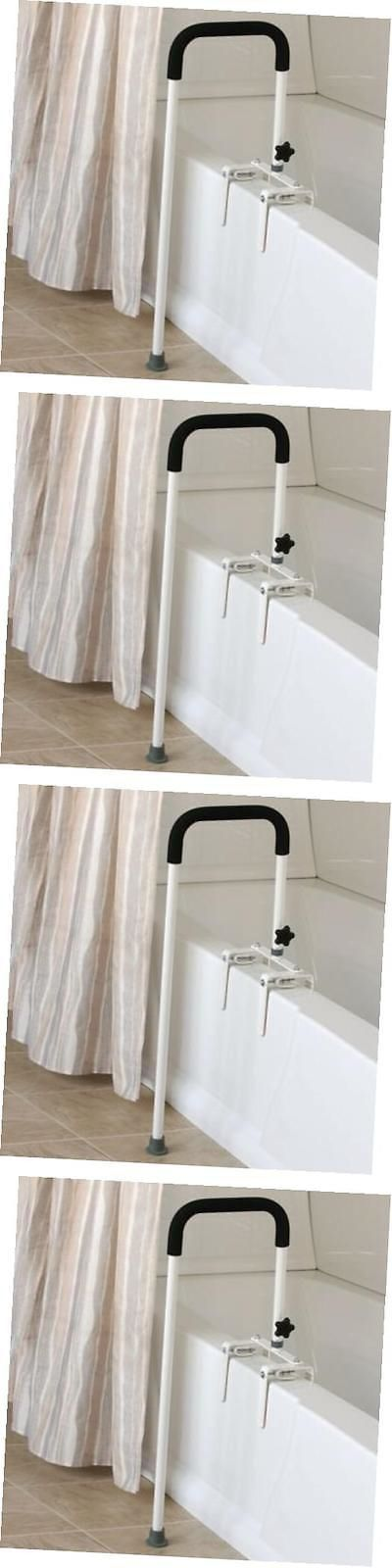 Handles and Rails: Floor To Tub Bath Rail, Curved Grab Bar With 200 Lbs Capacity For Shower Or -> BUY IT NOW ONLY: $130.46 on eBay!