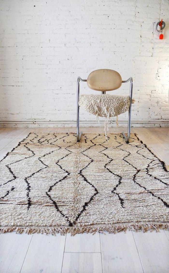 78 id es propos de tapis marocains sur pinterest for Tapis noir et turquoise