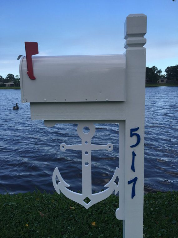 Anchor Mailbox Large Decorative Bracket Nautical By Simplyburtons Lake House Ideas Pinterest Home And Beach Decor