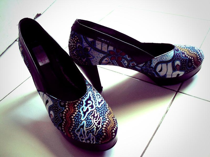 "Wishing for more shoes from ""batik"" indonesian traditional fabrice.."