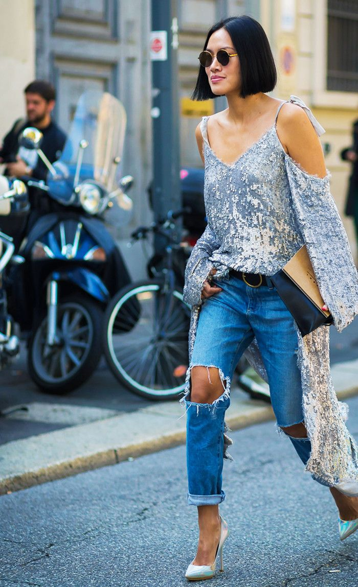 5 Going-Out Outfit Ideas That Revolve Around Jeans via @WhoWhatWearUK