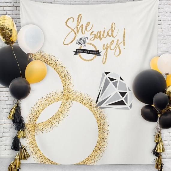 She Said Yes Bridal Shower Decorations, Engagement Party Decor, Engagement Party… – Party