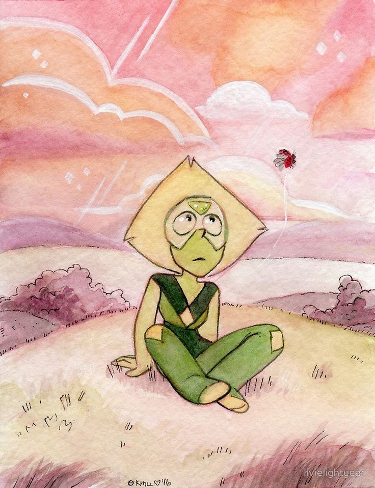 Peace and Love on the Planet Earth - Steven Universe Peridot by livielightyear