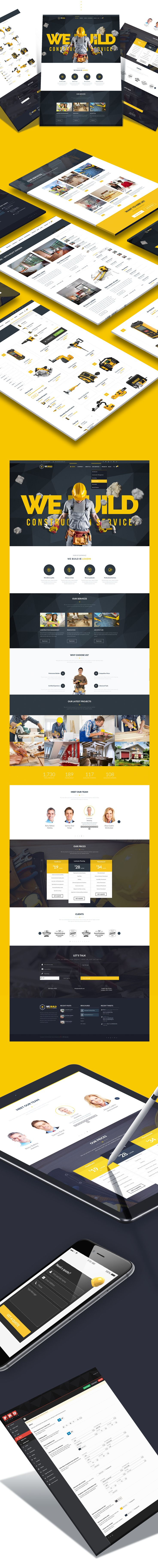 We Build - Construction, Building Premium WP Theme on Behance