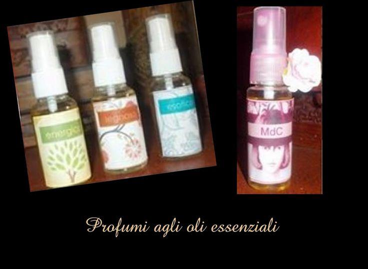 Profumini spray agli oli essenziali