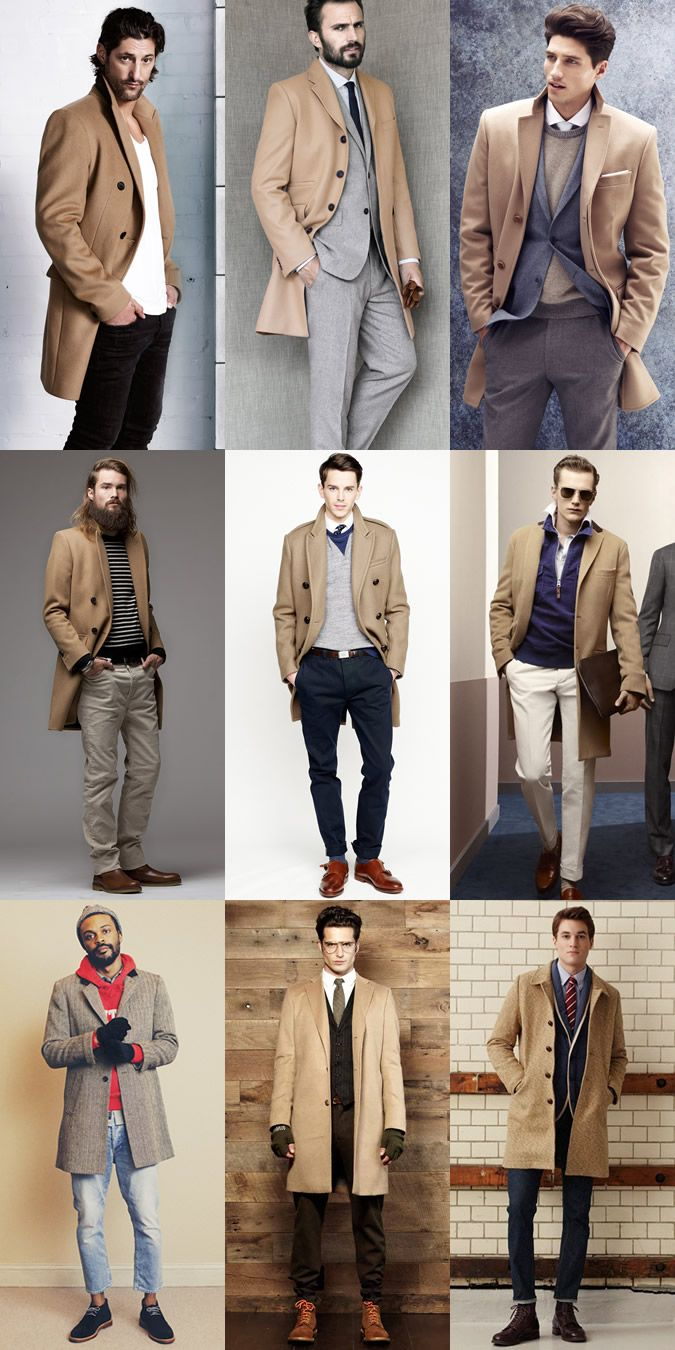 Men's Beige Overcoat Autumn/Winter Lookbook. Great ways to wear a trench.