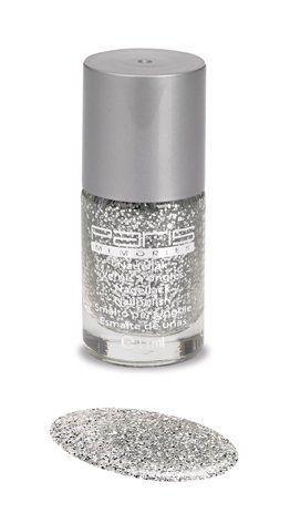 blank met zilveren glitter nagellak paris memories 251