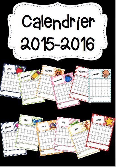 .: Calendrier 2015-2016