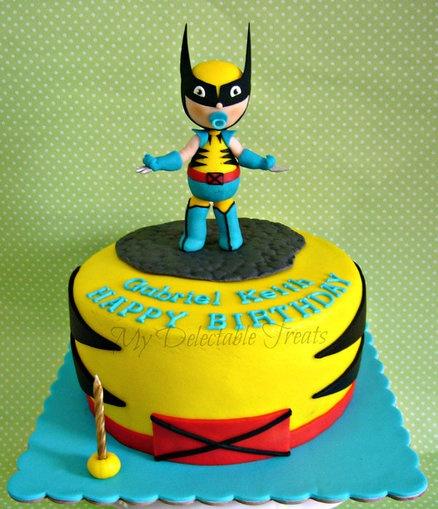 Baby Wolverine Themed Birthday Cake