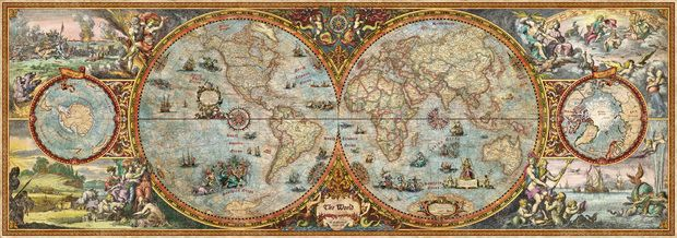 Hemisphere Map - Wall Mural & Photo Wallpaper - Photowall