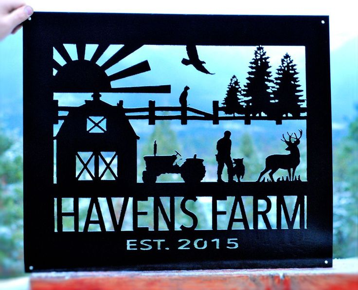 Plasma cut custom metal signs for business, home & garden.  Adapt your logo/vision into a customizable metal sign.  All design and metal art done in Bigfork MT.