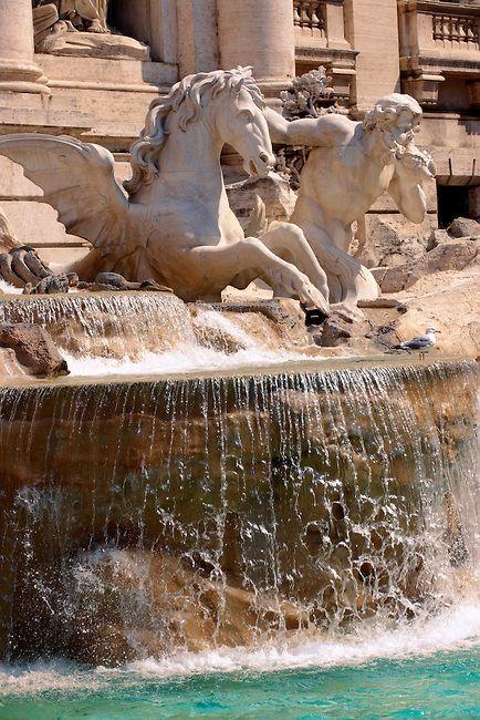 The Baroque Trevi Fountain. Rome, Italy