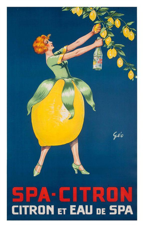 Reprint of a French Citrus Art Deco Publicity Poster by csfotobiz, $25.00